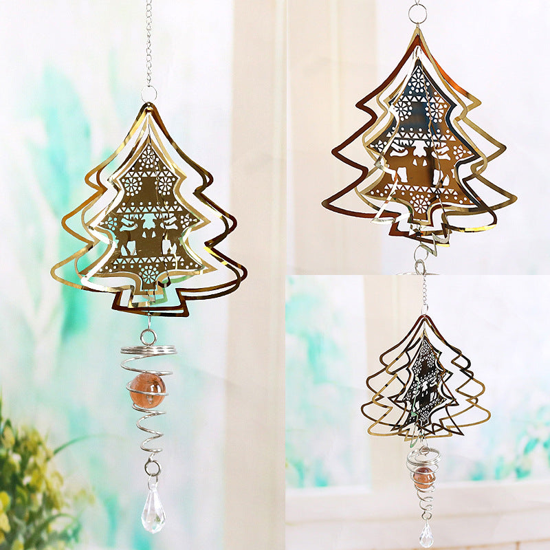 3D rotating wind chimes