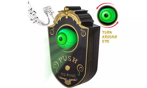 Halloween Decoration Indoor Outdoor Animated Lightup Talking Eyeball Doorbell