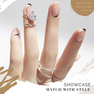 Adjustable Cuticle Cuff Ring