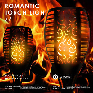 Most Realistic Flickering Flames Solar Torch Lights