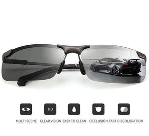 Photochromic Sunglasses with Polarized Lens - Perfect for Fisherman