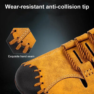 Men's Stitching Microfiber Leather Hollow Out Casual Sandals
