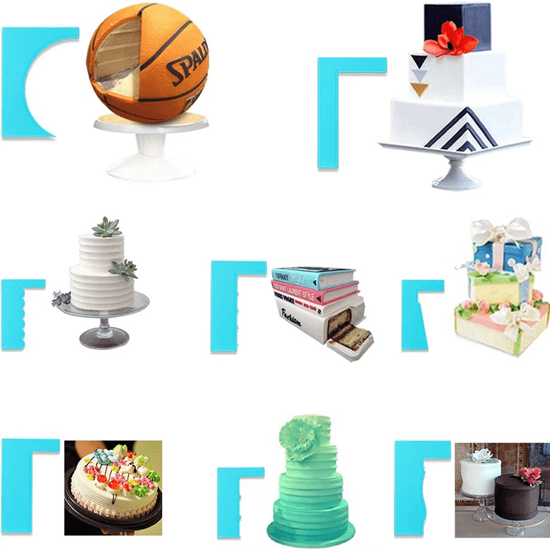 8-Style Cake Scrapers