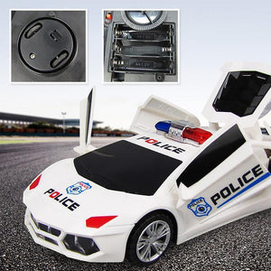 360 Degree Rotary Wheels Musical LED Lighting Electronic Police Car