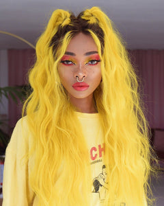 (✨NEW) GOOSE YELLOW COLORSHAIR WAVE WIGB 100%  HUMAN HAIR
