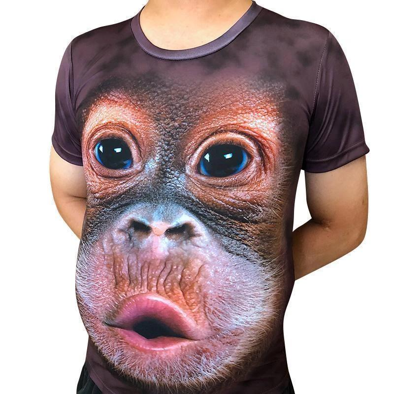 3D Print O-Neck Funny Gorilla T-shirt(Free Shipping)
