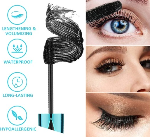 QIC™ 2020 NEW 4D Waterproof Silk Fiber Thick Lengthening Mascara