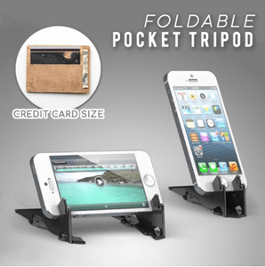 Foldable Pocket Tripod Adjustable Phone Holder Card