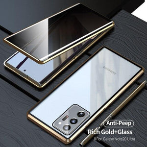 2020 Samsung Double-Sided Protection Anti-Peep Tempered Glass Phone Case