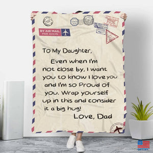 To My Family Love Dad Blanket - To My Daughter / Small (38''x50'') MICRO FLEECE - FA