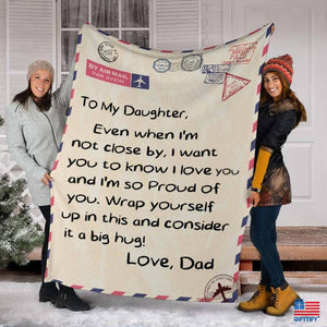 To My Family Love Dad Blanket - FA
