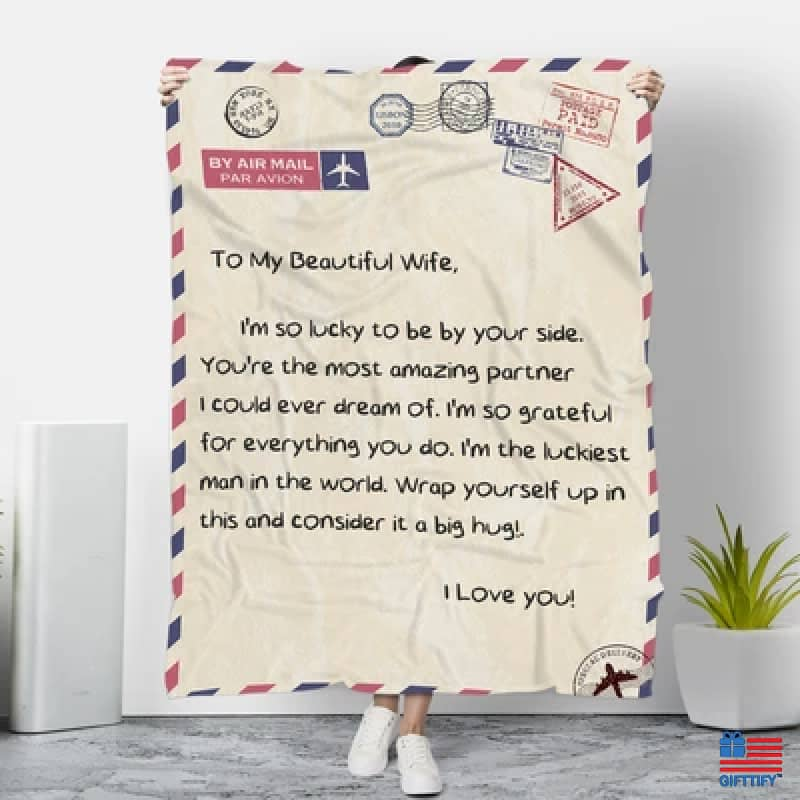 To My Family Love Dad Blanket - To My Wife / Small (38''x50'') MICRO FLEECE - FA