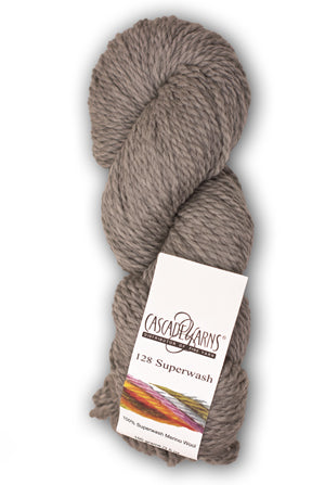 128 100% Superwash Merino wool in Chunky weight