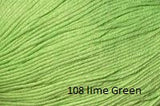 Universal Yarn Bamboo Pop a blend of Cotton and Bamboo. Color #108 Lime Green.