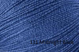 Universal Yarn Bamboo Pop a blend of Cotton and Bamboo. Color #111 Midnight Blue.