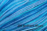 Universal Yarn Bamboo Pop a blend of Cotton and Bamboo. Color #205 Brilliant Bluews