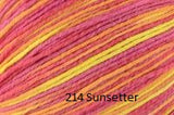 Universal Yarn Bamboo Pop a blend of Cotton and Bamboo. Color #214 Sunsetter.