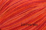 Universal Yarn Bamboo Pop a blend of Cotton and Bamboo. Color #219 Fire Mix.