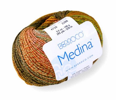 Berroco Medina Yarn, a DK weight in a blend of Cotton, Acrylic and Viscose.