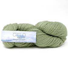 CIELO from Plymouth.  A  lofty chainette contruction blend of Fine Merino with Nylon