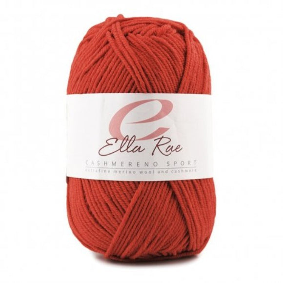 Cashmereno Sport from Ella Rae.  A Blend of Merino, Acrylic and Cashemere
