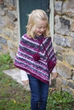Girl's Poncho in Mega Cakes from Plymouth Yarn