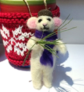 Needle Felted Ornament. Fridays, September 18 and 25.  2 PM to 4 PM