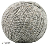 Alba from Jody Long. A tweed blend of Merino, Alpaca and Viscose