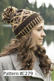 Knitted Fair Isle hat with pom pom, Cascade 128 superwash 100% merino wool in a chunky weight.  Cascade pattern #C279