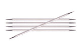"Nova Cubics Platina Double Pointed 6"" Knitting Needle Set"