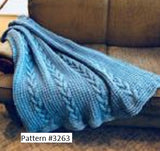 Plymouth Yarn Afghan pattern #3263.Knitted with Cielo Yarn.