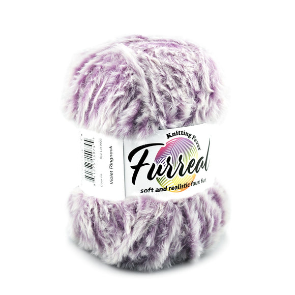 Furreal from Knitting  Fever. A faux fur yarn that has a great look and feel.