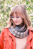 Knit this cozy cowl with Urth Yarn Uneek and Harvest yarn in fingering weight. a Drop Ship Kit.