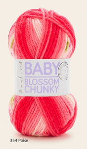 Hayfield Baby Blossom. A Chunky yarn in Acrylic and Nylon.