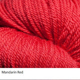 Green Line Yarn from Jagger Spun. Color  Mandarin Red