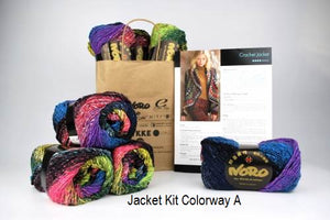 Crochet Jacket Drop Ship Kit from Knitting Fever. Crocheted with Noro Tiayo.