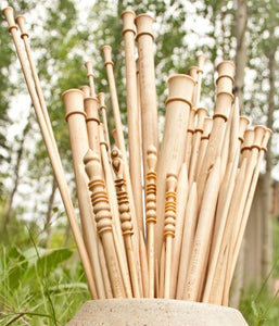 "Brittany Single Point Knitting Needles 10"". Made with sustainably harvested Birch wood."