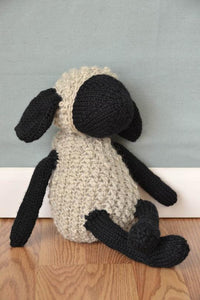 Sheldon Sheep Kit. A knitted and crochet stuffed toy for a perfect baby gift!