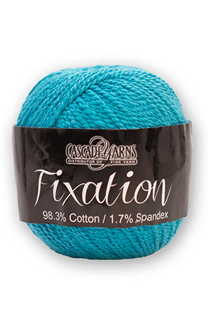 Fixation from Cascade Yarns.  A spun cotton with just a little spandex for stretch and memory.