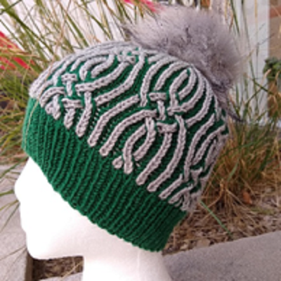 Brioche Two-Color Hat.  Friday February 5, 12 and 19.  From 2pm to 4pm