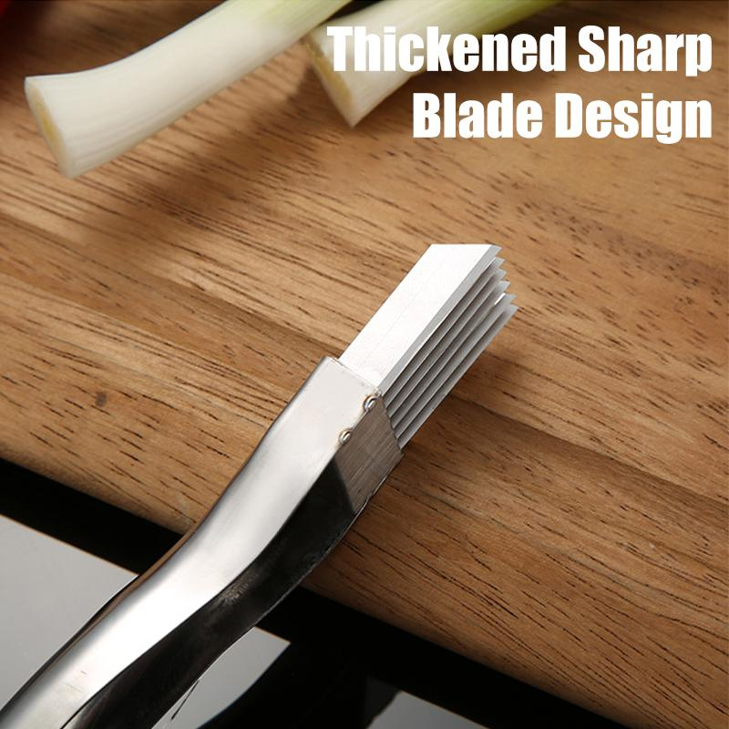 Megachooses™Stainless Steel Chopped Green Onion Knife