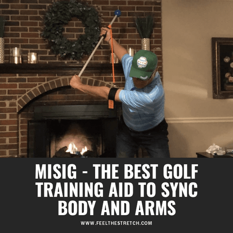 best golf training aid to sync body and arms