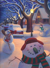 Load image into Gallery viewer, Snowmen at Night - Artspark! Box