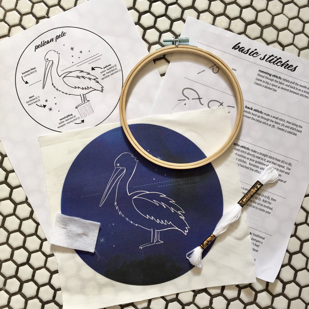 pelican embroidery kit
