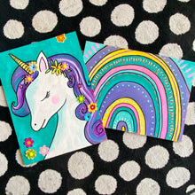Load image into Gallery viewer, rainbow unicorns craft kit