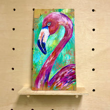 Load image into Gallery viewer, Fab Flamingo (original painting)