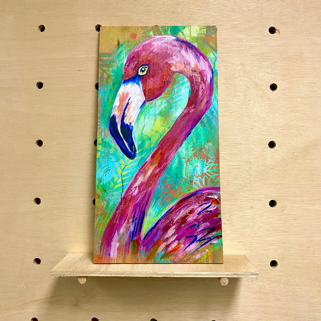 Fab Flamingo (original painting)