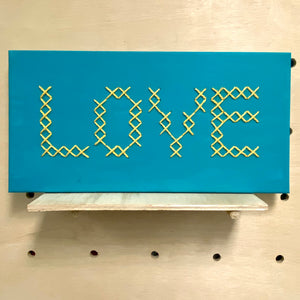 Love (cross stitch canvas)