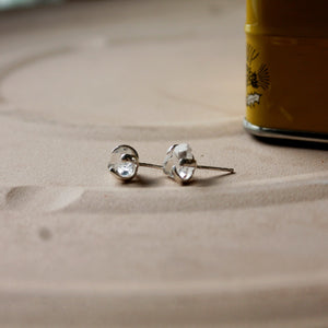 Herkimer Diamond Gemstuds- claw setting