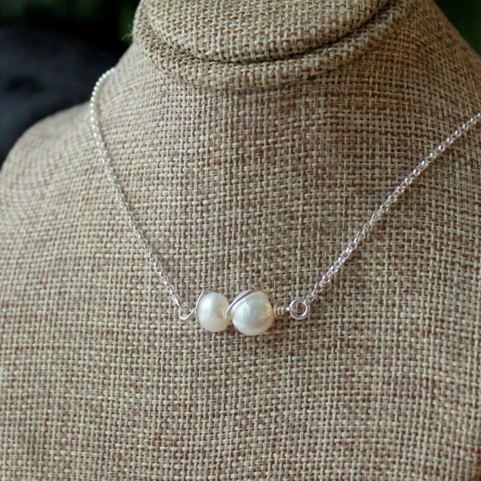 Two pearls One Shell Necklace